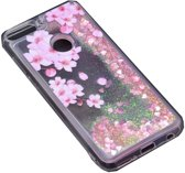 Teleplus Huawei Y7 2018 Water Patterned Silicone Case Pink hoesje