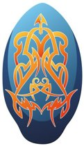 Skimboard Tribal - 100 cm - Blauw/Oranje