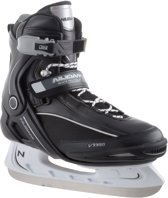Nijdam 3350 IJshockeyschaats - Semi-Softboot - Zwart/Wit - Maat 44