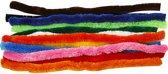 Chenille draad, dikte 25 mm, kleuren assorti, 60 assorti