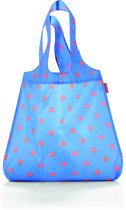 Reisenthel Mini Maxi Shopper - Opvouwbare boodschappentas - Polyester - 15L - Azure Dots Blauw