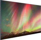 Noorderlicht explosie Aluminium 60x40 cm - Foto print op Aluminium (metaal wanddecoratie)