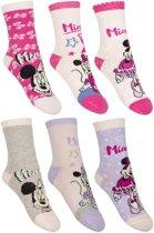 6 paar sokken Minnie Mouse maat 31/34
