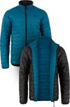 Highlander omkeerbare jas Coll met Tecloft vulling - Zwart/Petrol - S