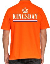 Kingsday poloshirt / polo t-shirt met kroon oranje voor heren - Koningsdag kleding/ shirts 2XL