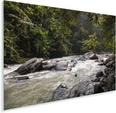 Bahorokrivier bij het Indonesische park Gunung Leuser in Azië Plexiglas 30x20 cm - klein - Foto print op Glas (Plexiglas wanddecoratie)