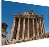 Vooraanzicht van de tempel van Bacchus in Baalbek Plexiglas 120x80 cm - Foto print op Glas (Plexiglas wanddecoratie)