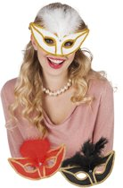 24 stuks: Masker Feathers in 3 kleuren - assorti