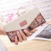 Trendy Dames Portemonnee - Clutch - Roze Polyester Binnenkant - Geschikt voor 12 Pasjes