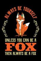 Always Be Yourself Unless You Can Be a Fox Then Always Be a Fox