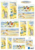 Hobby wenskaartenpakket - Marianne Design decoupage x1 Tiny's beach 1 - 10 stuk