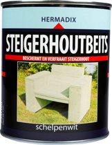 Hermadix Steigerhoutbeits - 0,75 liter - Schelpen Wit