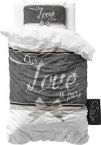 Sleeptime Pure Love - Dekbedovertrek - Eenpersoons - 140x200/220 + 1 kussensloop 60x70 - Wit