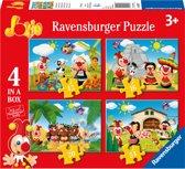 Ravensburger Jokie reist om de wereld - 12+16+20+24 stukjes - kinderpuzzel