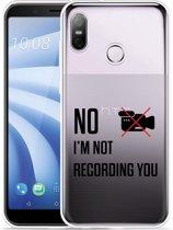 HTC U12 Life Hoesje Not recording you