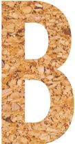 Kleefletter - plakletter - prikbord - kurk - vegan - letter B - 28 cm hoog