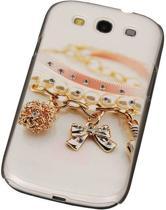 3D Hardcase met Diamant Galaxy S3 I9300 Armband - Back Cover Case Bumper Hoesje