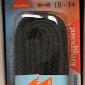 3 mm x 180 cm zwart - Rond Cord 100% katoen schoenveter