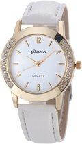 Fako Bijoux® - Horloge - Geneva - Kristal - 35mm - Wit