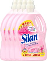 SILAN Passie Voor Rozen - 4 x 3L - Wasverzachter - Voordeelverpakking