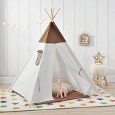 Wigwam tent - speeltent voor kinderen - bruin en wit