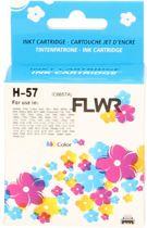 FLWR - Inktcartridge / 57 kleur - geschikt voor HP