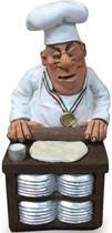 Beroepen beeldje pizza kok bakker Warren Stratford