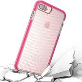 Let op type!! Voor iPhone 8 Plus & 7 Plus & 6 Plus Basketbal Texture Anti-collision TPU back cover beschermhoes (Magenta)