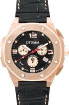 OTUMM Speed Leather Rose gold Black 45mm