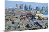 Oude Hutong-district van Datong in noorden van China Aluminium 90x60 cm - Foto print op Aluminium (metaal wanddecoratie)