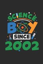 Science Boy Since 2002: Graph Ruled Notebook / Journal (6'' X 9'' - 5 X 5 Graph Ruled) - Science Student and Scientist Birthday Gift Idea