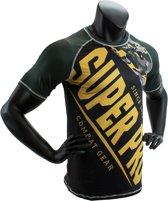 Super Pro Combat Gear T-Shirt Sublimatie Camo Zwart/Groen/Goud Medium