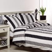 Papillon Scott - Dekbedovertrek - Lits-jumeaux - 240x220 cm - Zwart/wit