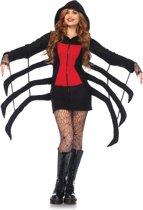 Cozy Spider kostuum vest zwart/rood - Kostuum Party Halloween - L - Leg Avenue