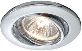 Zoomoi - inbouw spot dimbaar - kantelbaar - GU5.3 - metaal - 68mm - chroom - rond Inbouwspot