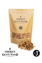 Smokey Olive Wood - Houtsnippers - 1,7L - Olijfhout -  Chips grote maat ø 2cm-3cm