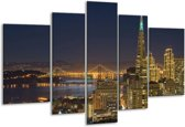 Glasschilderij Steden | Geel, Bruin, Zwart | 170x100cm 5Luik | Foto print op Glas |  F000550
