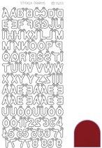 Sticker Charm ABC - Mirror Rood
