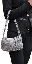 MoreThanHip Angela handtasje met klep van hergebruikte bliklipjes