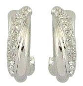 Traveller oorstekers - 2/3 oorring - met Swarovski Crystal - #156841