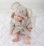 Baby Badjas - Grijs - van 0 tot 12 maanden