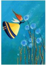 """3 x Kaart Marie Cardouat : """"Un bouquet de ballons"""""""