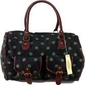 Didimundo POLKA DOTS Canvas Handtas Schoudertas Weekend Tas