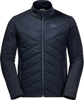Jack Wolfskin Caribou Crossing Track Heren Fleece Vest - Night Blue - Maat M