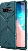 Teleplus Samsung Galaxy S10 Plus Case Defense Impact Protected Tank Green hoesje
