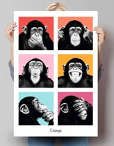 Reinders Poster The Chimp - pop - Poster - 61 × 91,5 cm - no. 21831