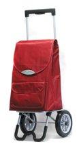 Secc by Davidt's - Boodschappentrolley Stockolm Rood - Tas Inhoud 42 L / 35 kg - 2 Wielen