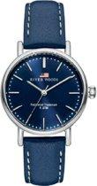 River Woods RW340027 Oswego horloge Vrouwen - Blauw - Leer 34 mm