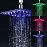 LED Douchekop | Waterval |  LED Shower | Chrome | Met gekleurde LED Verlichting | Kleuren bij watertemperatuur