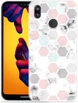 Huawei P20 Lite Hoesje Marmer Honeycomb